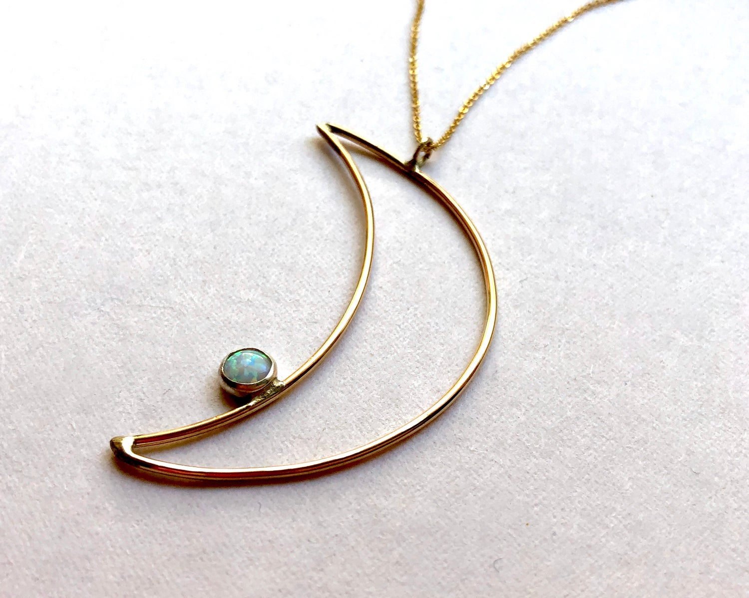 Image of Opal Moon Necklace