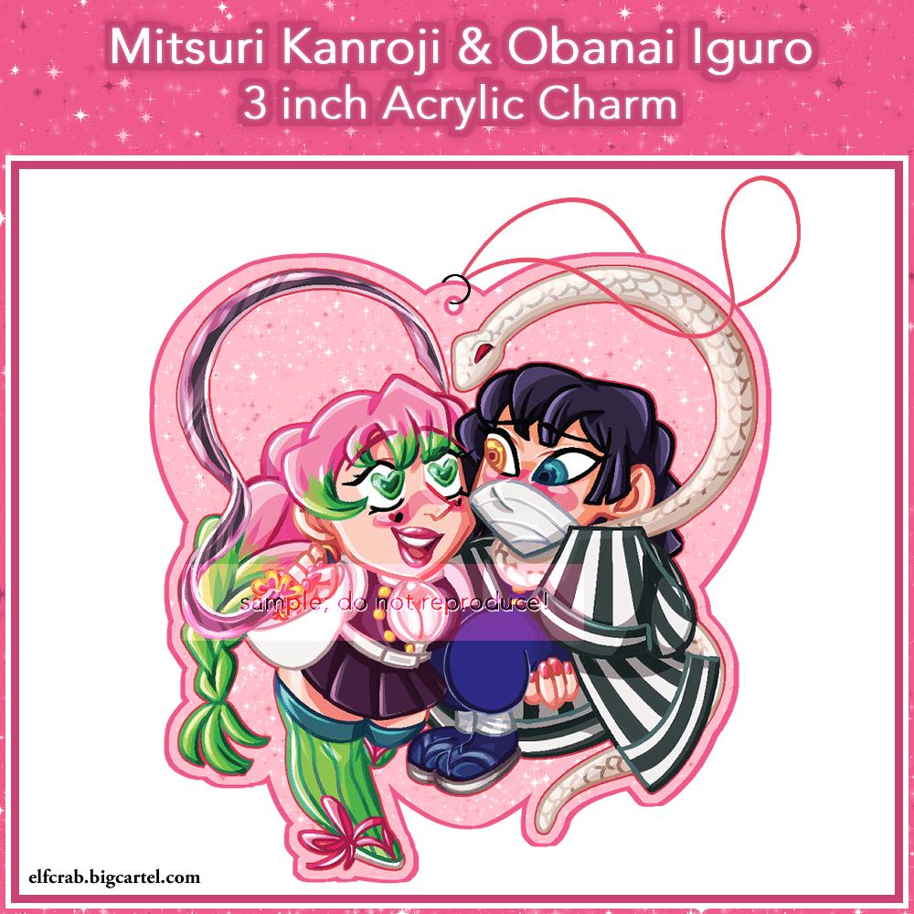 Mitsuri Kanroji Obanai Iguro 3 Acrylic Charm Elfcrab A character in kimetsu no yaiba. mitsuri kanroji obanai iguro 3 acrylic charm