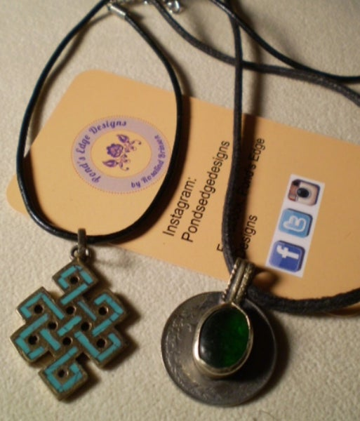 Image of Namaste Pendant Pair - Cross and Coin
