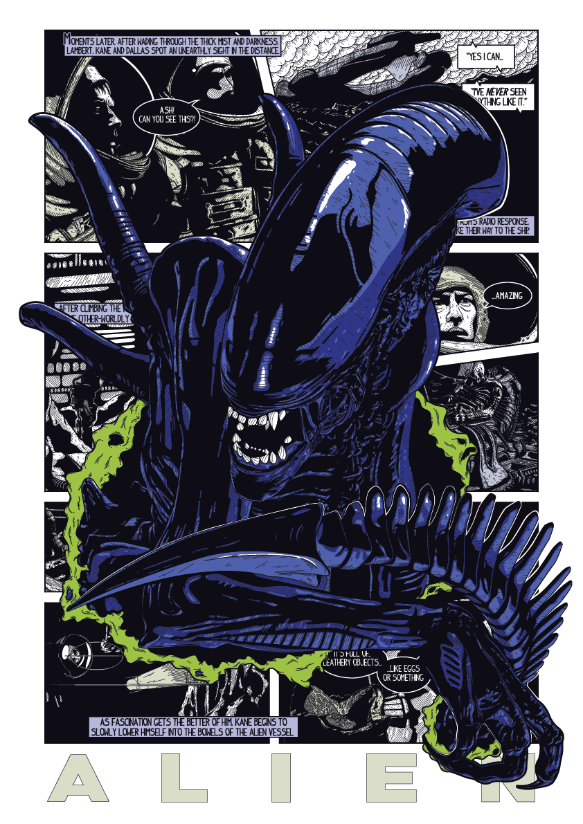 Image of Alien - A3 Print