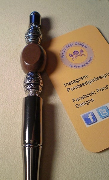 Image of Fashionista Pen - Brown and Silver