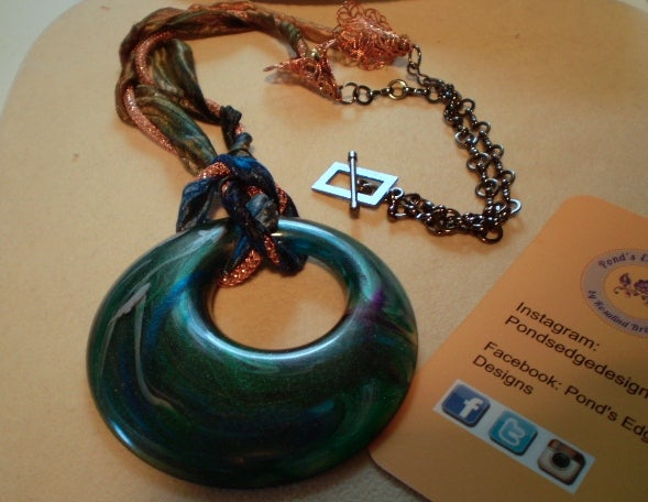 Image of Lucite Ring Necklace