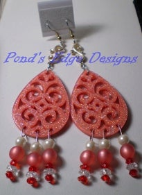 Image of Pink Sparkle Earrings