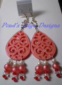 Pink Sparkle Earrings