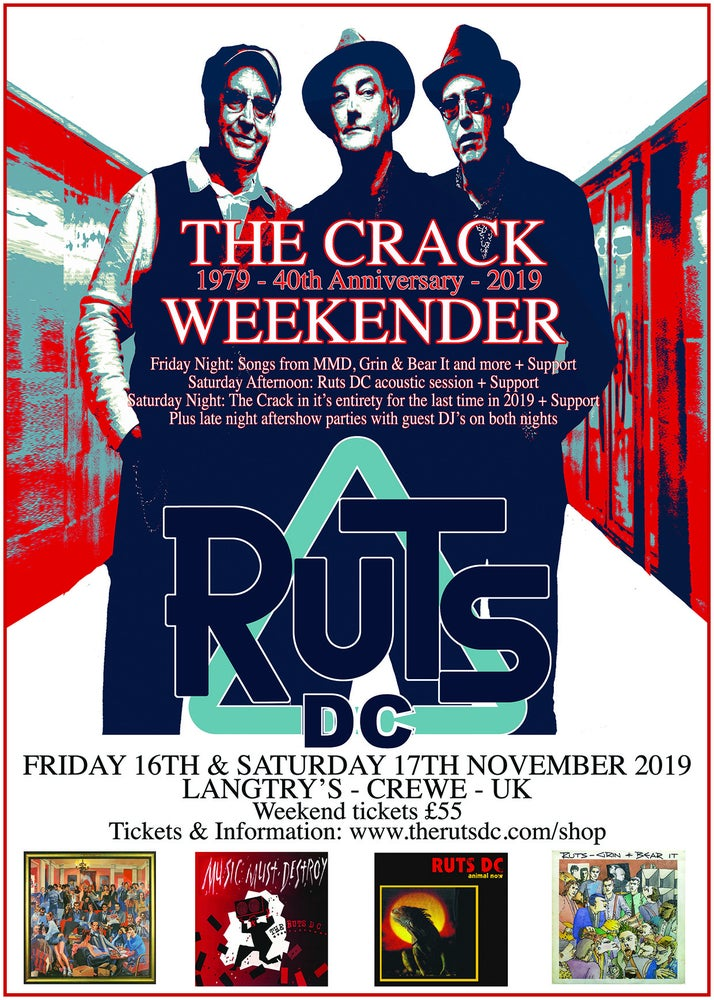Image of RUTS DC The Crack Weekender Weekend Ticket