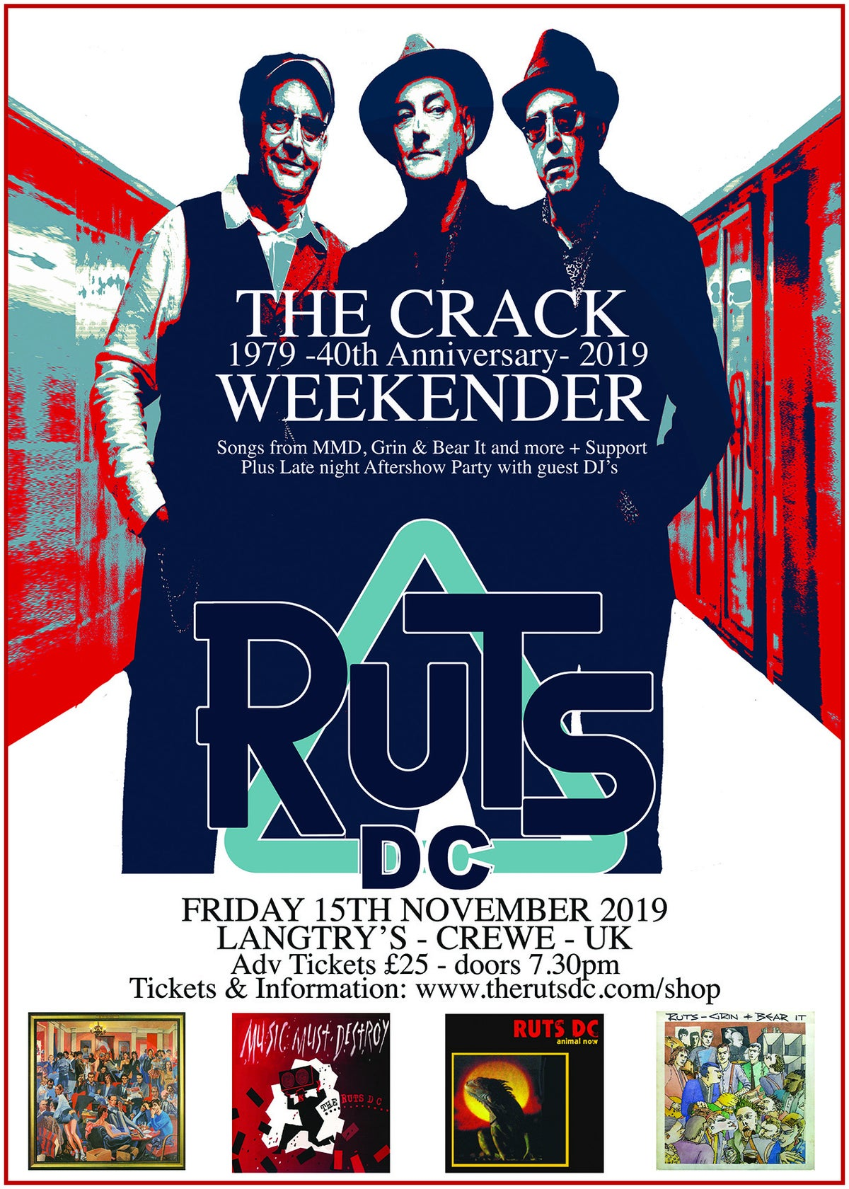 Image of RUTS DC The Crack Weekender Friday Night Ticket