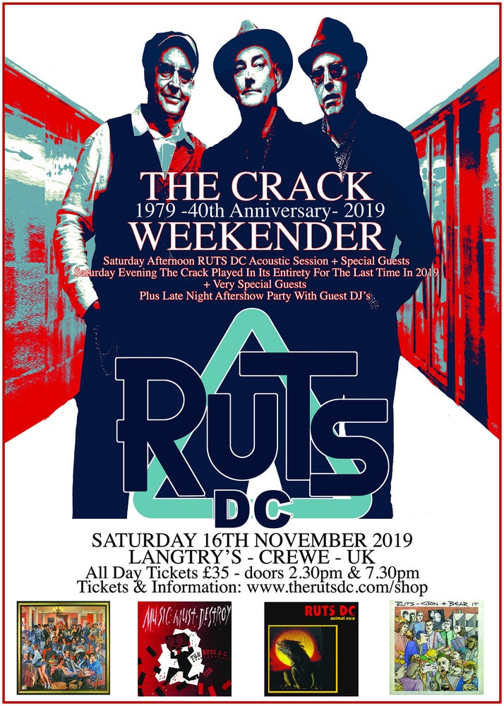Image of RUTS DC The Crack Weekender Saturday All Day Ticket