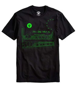 Image of Currency Tee- Black/Lime