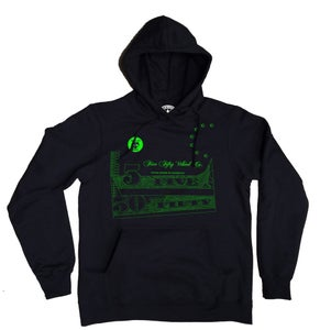 Image of Currency Hoody -Black /Lime