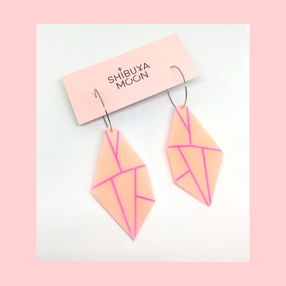 Image of Super Gems Hoops (Peach-Pink)