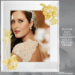 Image of Bloom Gold 8x10 Mirrored Picture Frame
