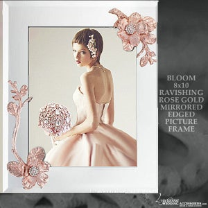 Image of Bloom Rose Pink 8x10 Mirrored Picture Frame