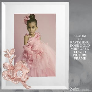 Image of Bloom Rose Gold 5x7 Mirrored Picture Frame