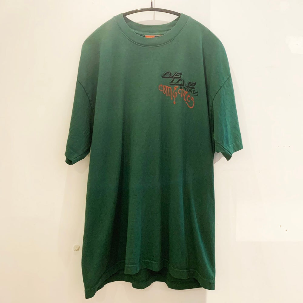 "Image of COME TEES x BIG LOVE RECORDS T-SHIRT ""FAMILY BUSINESS"" -GREEN-"