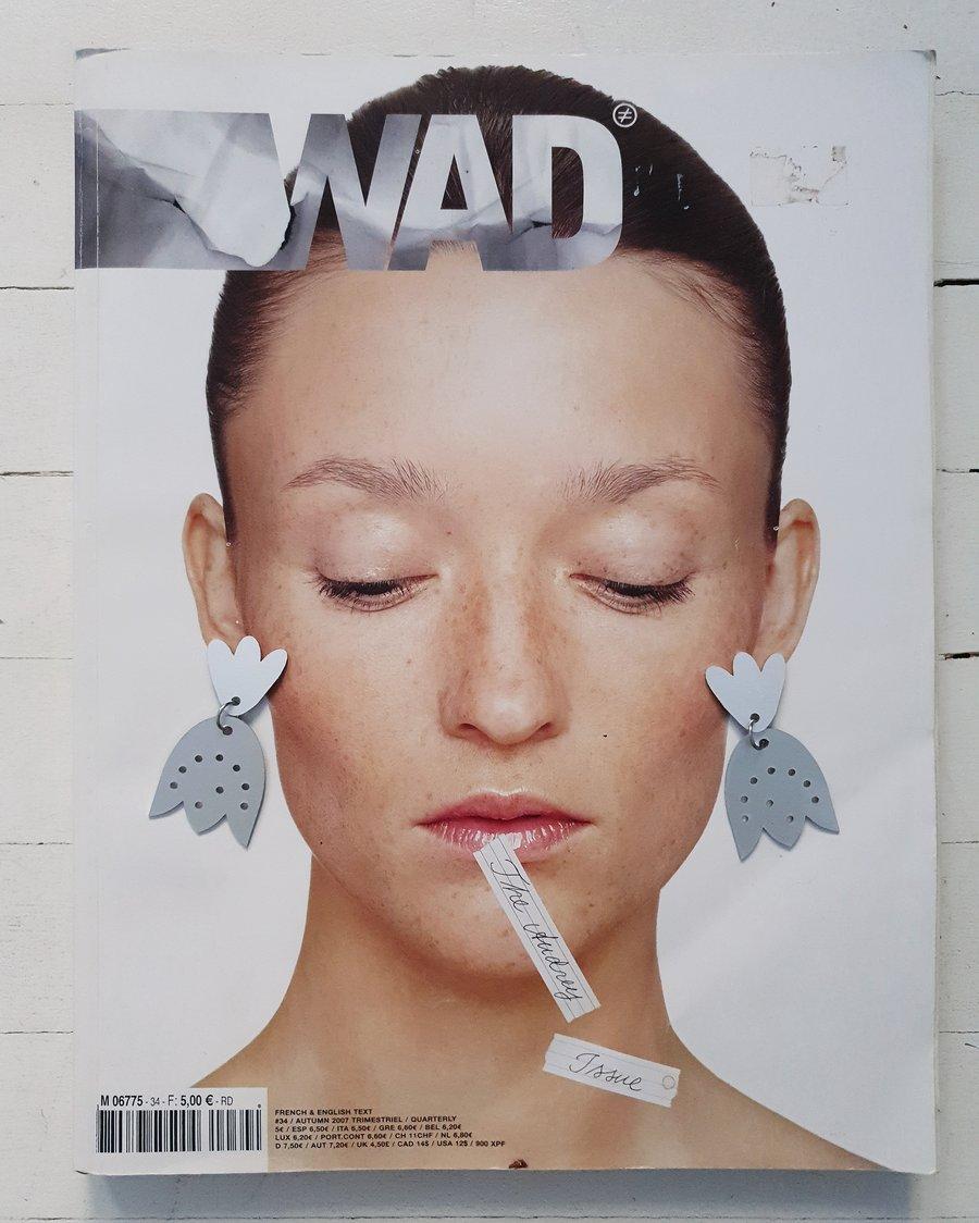Image of uhani ROŽA ALUMINIJ .24 // earrings FLOWER ALUMINIUM .24