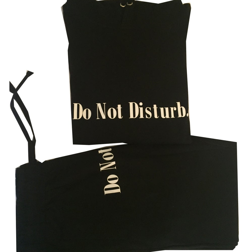 "Image of Everyday Do Not Disturb Sweatsuit ""Black"""