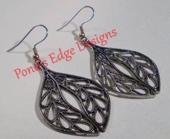 Image of Silver Leaf Earrings
