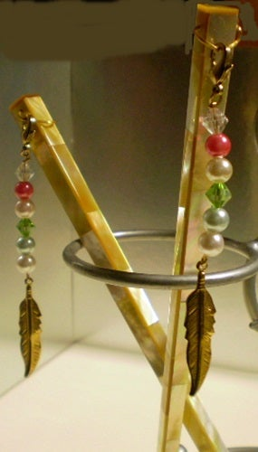 Gold Shell Hair Sticks with Charms