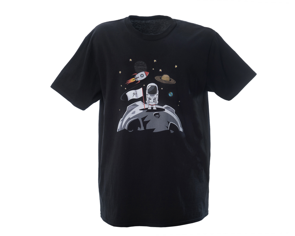 Image of Spaceman Moon Landing Print Tee