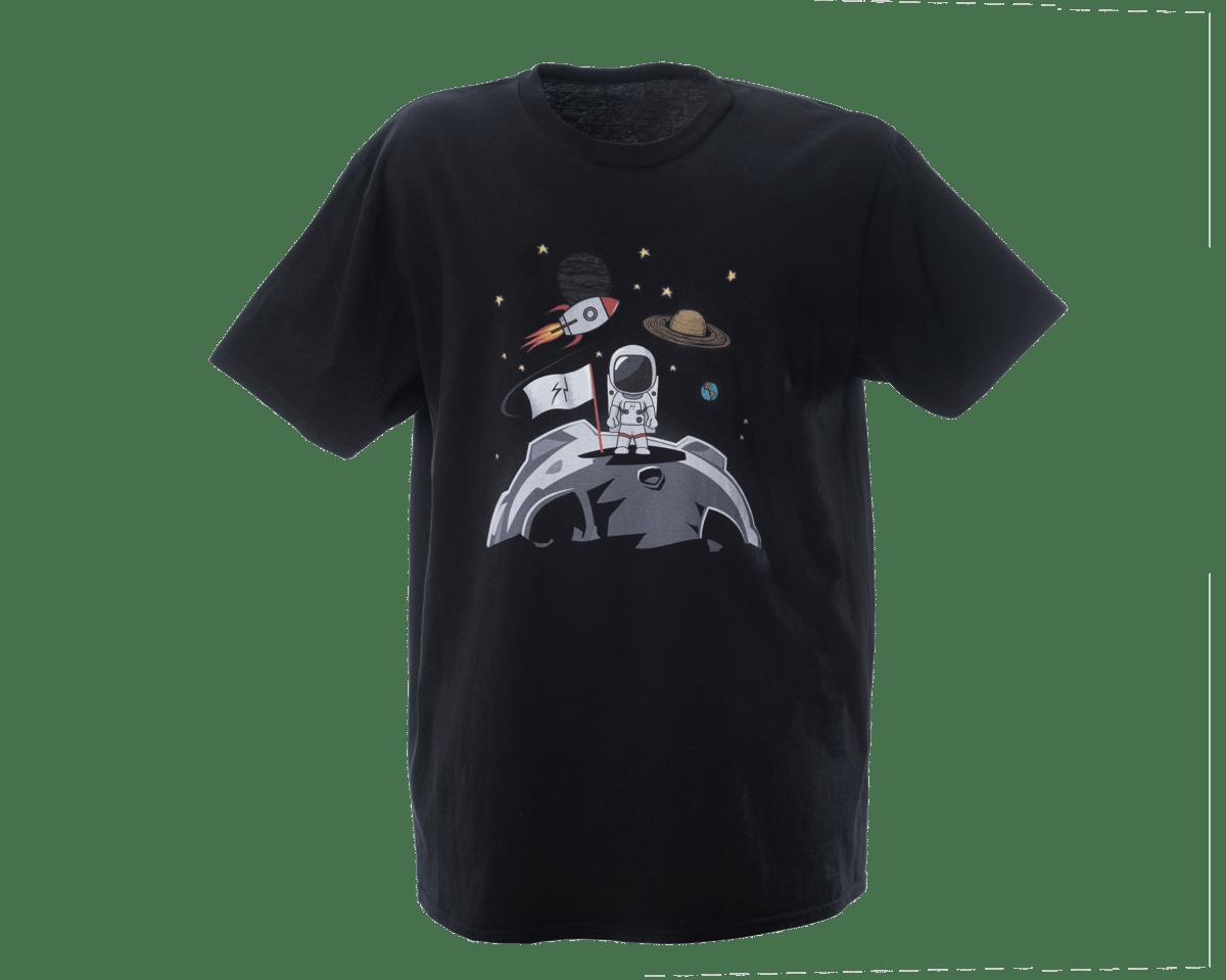 Image of Spaceman Moon Landing Print Tee