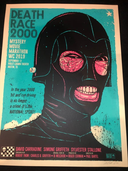 Image of Death Race 2000 Wafflecon 2019 print