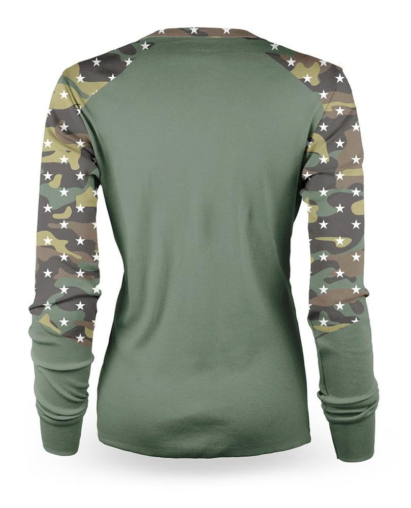 Image of Camo Long sleeve womens jersey