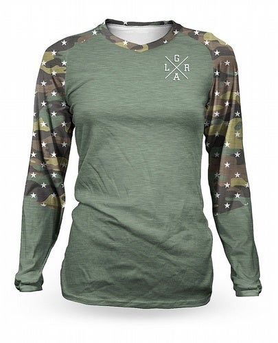 Image of Camo Long sleeve womens jersey