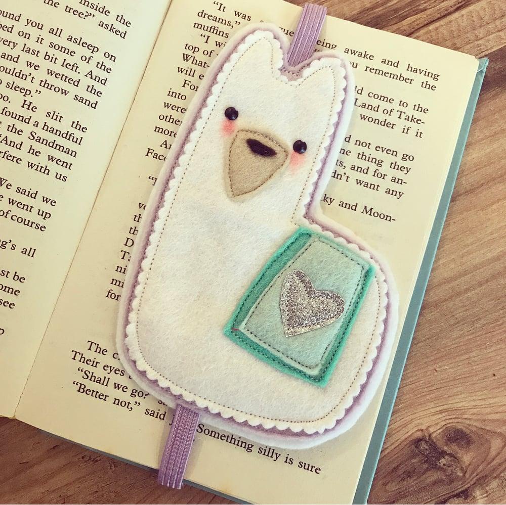 Image of Llama bookmark