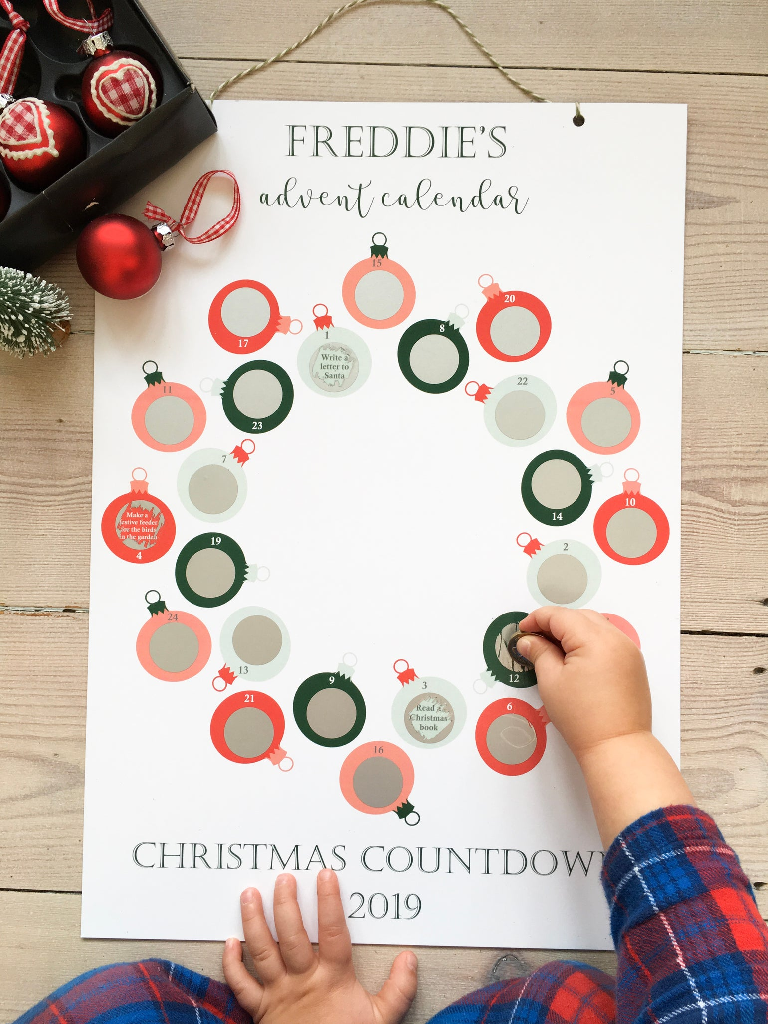 Image of Personalised Advent Calendar