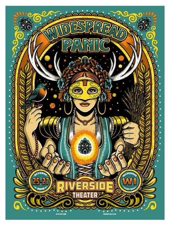 "Image of WIDESPREAD PANIC @ Milwaukee, WI - 2019 & ""Foil variants"""