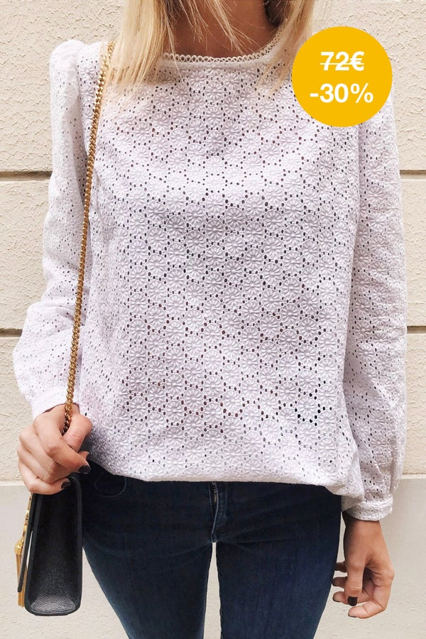 Image of BLOUSE CAMILLA - BRODERIE BLANC CASSE
