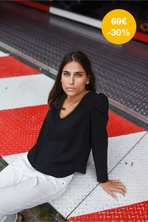 Image of BLOUSE OLIVIA - NOIR