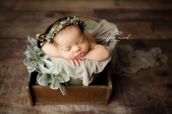 Image of PREORDER Frosty Sage & Grey newborn Halo
