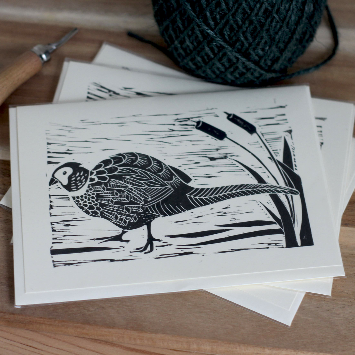 Image of 'Pheasant in the bulrush'