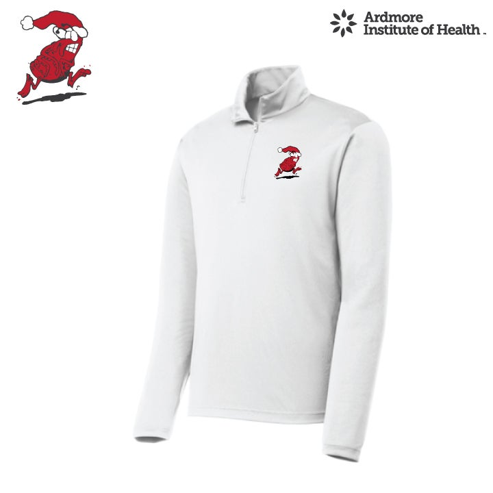 Image of CHIGGER CHASE- DRI FIT 1/4 ZIP PULLOVER WHITE