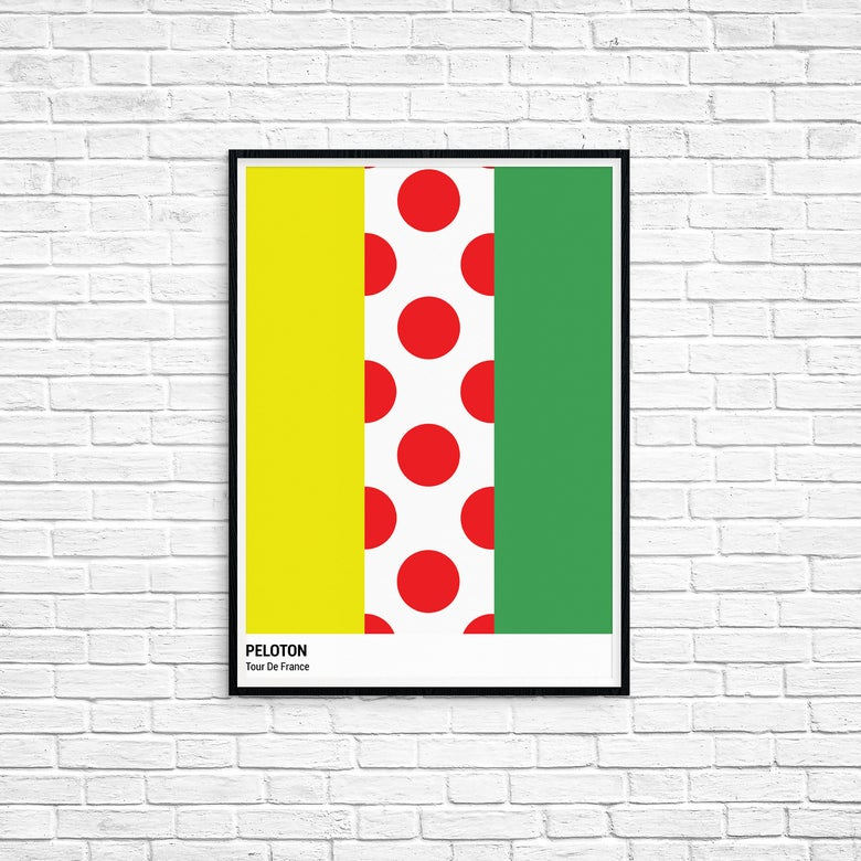 Image of Peloton Print - Tour De France Series