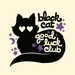 Image of Black Cat Good Luck Club Fabric Sticker