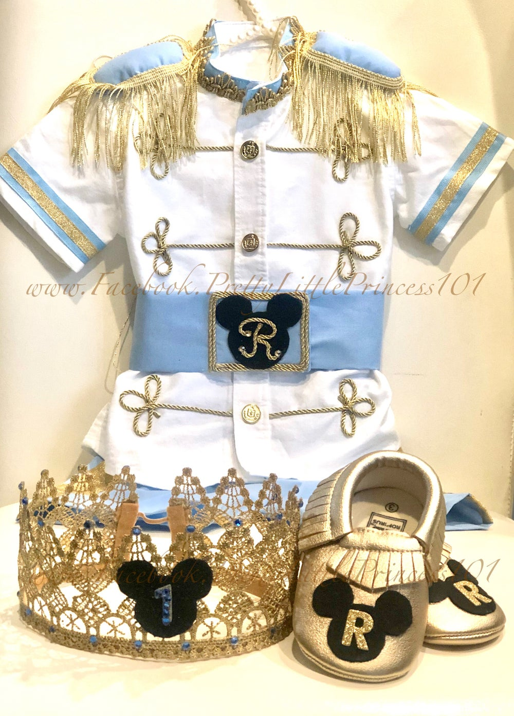 Image of Personalized Mickey Prince Outfit (Crown & Shoes sold separately)