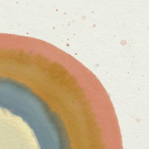 Image of Regnbue, fødselstavle/plakat
