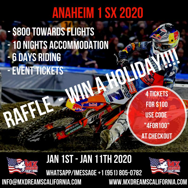 Image of CALIFORNIA TRIP RAFFLE