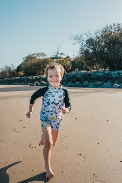 Image of Rev n Roar Rash Vest and Swim Short Set