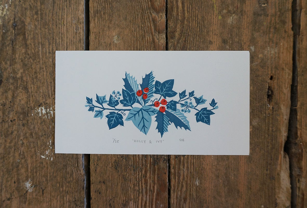 Image of Holly & Ivy - Linocut