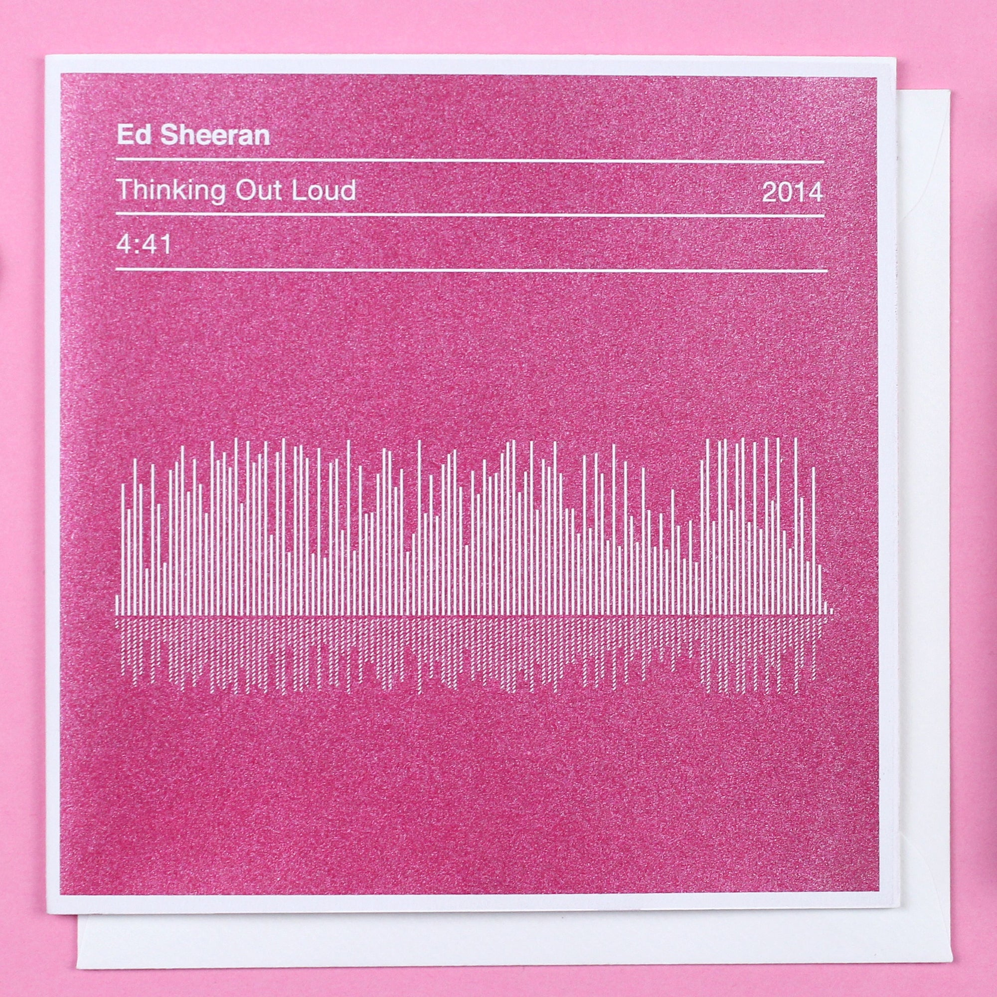 ed sheeran valentines card 'thinking out loud' song sound