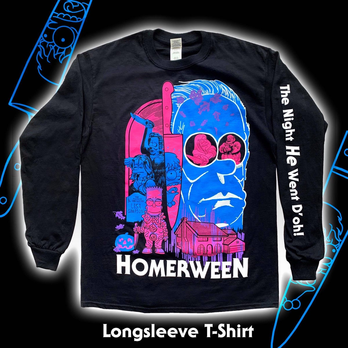 Image of Homerween Screen-printed Longsleeve