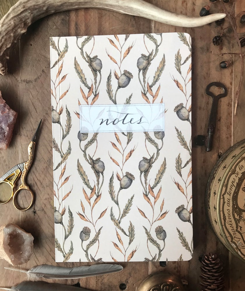 Image of Poppy Pattern Notebook
