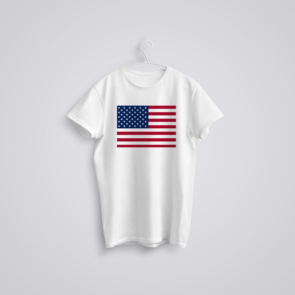 Image of American USA Flag July 4th Independence T-Shirt