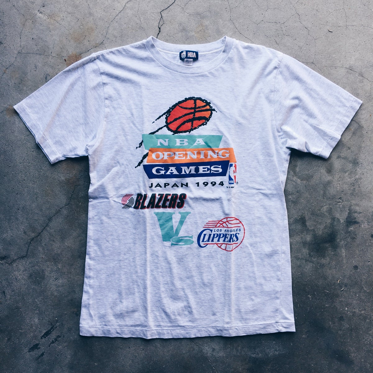 Image of Original 1994 Blazers Japan Games Tee.