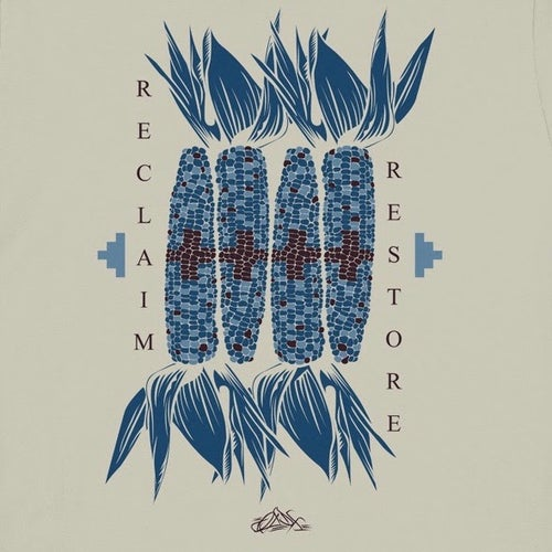 Image of Blue Corn Sovereignty Swoop Tee