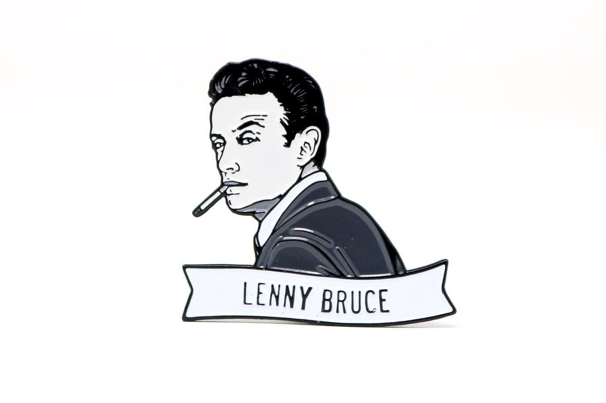 Image of Lenny Bruce Enamel Pin