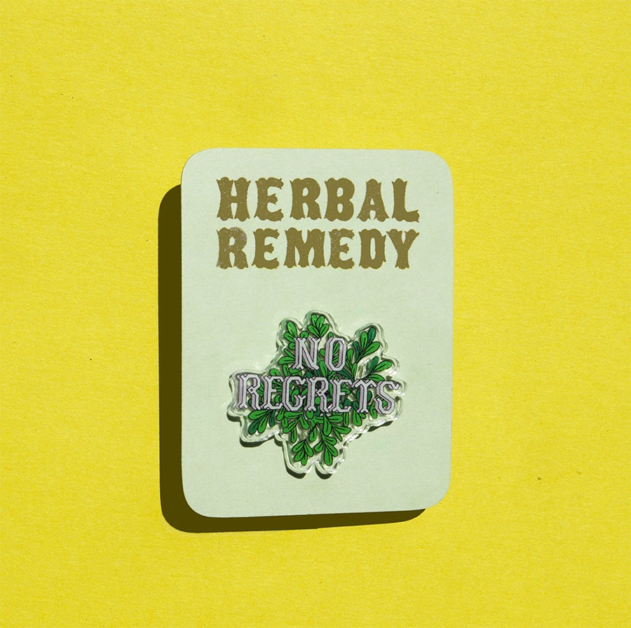 Image of Herbal Remedy Pin: Rue